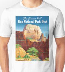 Zion National Park - Vintage Travel Poster Unisex T-Shirt