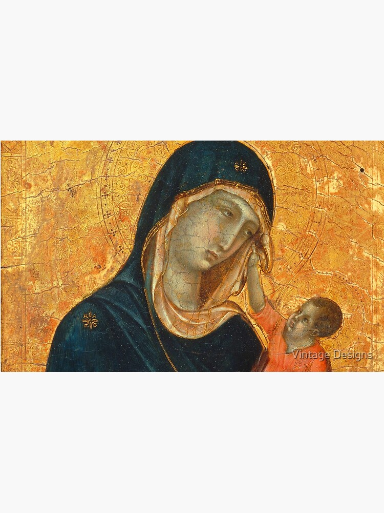 Madonna and Child medieval painting by Geekimpact