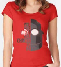 Wise Choice is necessary Women's Fitted Scoop T-Shirt