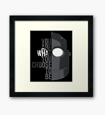 Wise Choice is necessary Framed Print