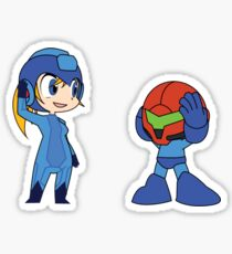 Chibi Zero Suit Samus and Megaman Sticker