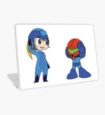 Chibi Zero Suit Samus and Megaman Laptop Skin