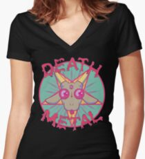 DEATH METAL Women's Fitted V-Neck T-Shirt