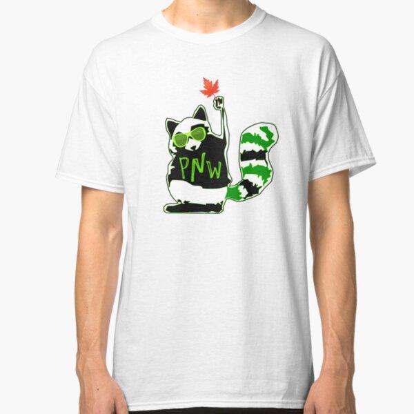 PNW Rebel Raccoon Maple Leaf Classic T-Shirt