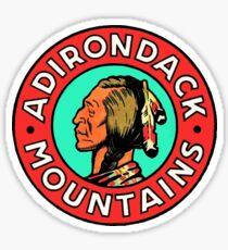 Vintage Style Adirondack Mountains 1950's Travel Image Sticker