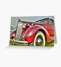 Packard Type 138 Vintage Saloon Car Greeting Card