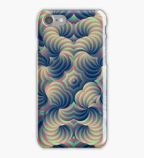 Green and Purple Trippy Abstract Psychdelic 3D Effect Fractal 01 iPhone Case/Skin