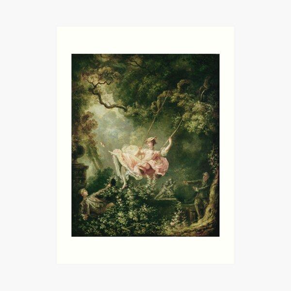 Jean-Honore Fragonard - The Swing, 18th Century Art Print