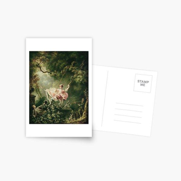Jean-Honore Fragonard - The Swing, 18th Century Postcard