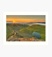 Scales Tarn from the Edge Art Print