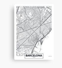 Vector poster map city Barcelona Canvas Print
