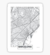 Vector poster map city Barcelona Sticker