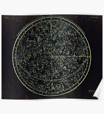 Constellations of the Northern Hemisphere | Yellowed Ink on Greys Poster