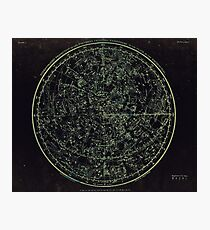 Constellations of the Northern Hemisphere | Yellowed Ink on Greys Photographic Print
