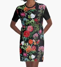 Botanical Pattern Graphic T-Shirt Dress