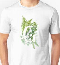 Floral letter G Unisex T-Shirt