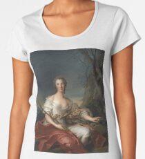 Jean-Marc Nattier - Portrait Of Madame Bouret As Diana Women's Premium T-Shirt