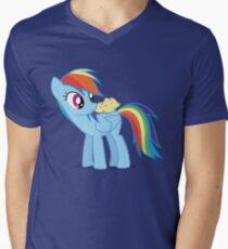 "Rainbow Dash - ""Chicks"" Textless ver. Men's V-Neck T-Shirt"