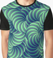 Blue and Green Trippy Abstract Psychedelic 3D Effect Fractal 04 Graphic T-Shirt