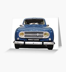 Renault 4 - Front View Greeting Card