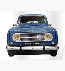Renault 4 - Front View Poster