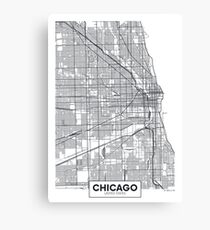 Vector poster map city Chicago Canvas Print