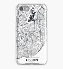 Vector poster map city Lisbon iPhone Case/Skin