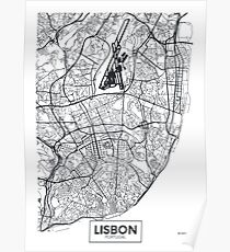Vector poster map city Lisbon Poster