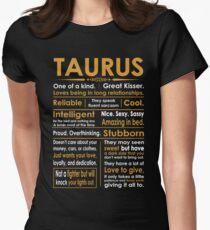 Funny Taurus Zodiac Sign Shirt Women's Fitted T-Shirt