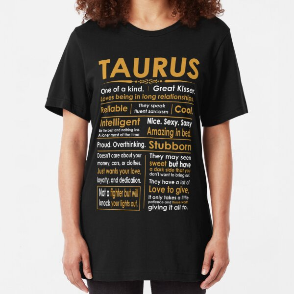 Funny Taurus Zodiac Sign Shirt Slim Fit T-Shirt