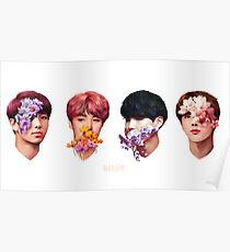 Póster ❀ Flowers + Hyung Line ❀