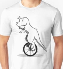 Unicycle Dino Unisex T-Shirt