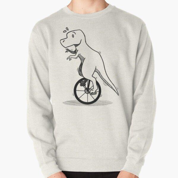 Unicycle Dino Pullover Sweatshirt
