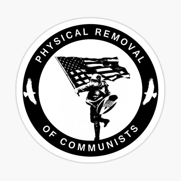 Base Stickman Physical removal of communists Sticker
