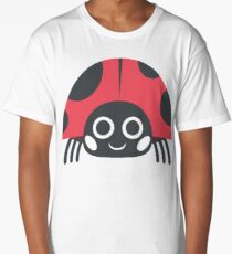 Cartoon Ladybug Long T-Shirt
