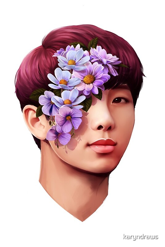 Quot Flowers Namjoon Quot By Karyndraws Redbubble