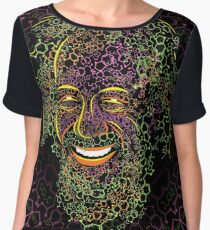 Alexander Shulgin MDMA and 2C-B Molecules Psychedelic Portrait Women's Chiffon Top