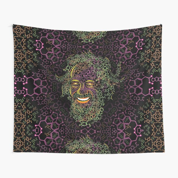 Alexander Shulgin MDMA and 2C-B Molecules Psychedelic Portrait Tapestry