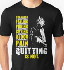 Quitting Is Not Acceptable - Ripped Back Unisex T-Shirt