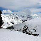Snow at high altitudes by annalisa bianchetti
