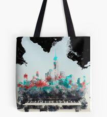 Music Builds Cities Tote Bag
