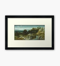 Joachim Patinir - Landscape With The Temptation Of Saint Antony Abbot,  1510 Framed Print