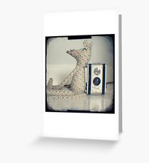 Mouse and camera Greeting Card