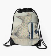 Mouse and camera Drawstring Bag