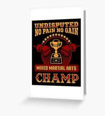 Mixed Martial Arts Champion Greeting Card