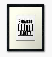 Straight outta Alberta Framed Print