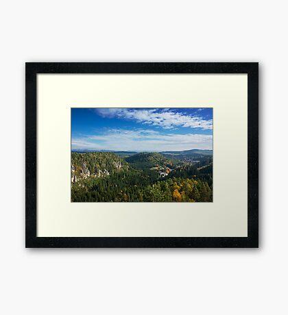 View from Střmen Framed Print