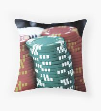 Poker Chip Throw Pillow