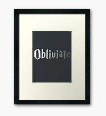 Obliviate Framed Print