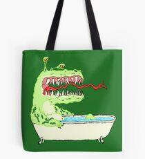 A Dragon in a Bathtub Tote Bag